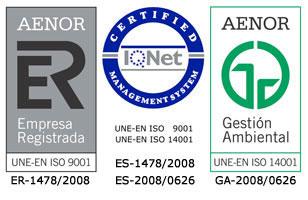Certificados ISO-9001 e ISO-14001